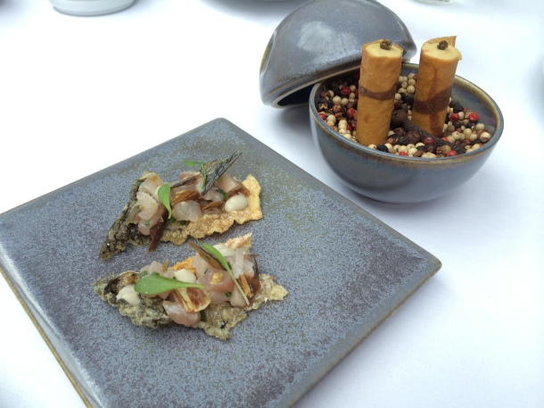 Mackerel tartare and duck liver