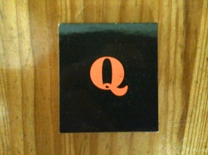 Q Grill business card