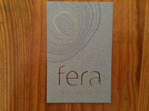 Fera at Claridge's business card