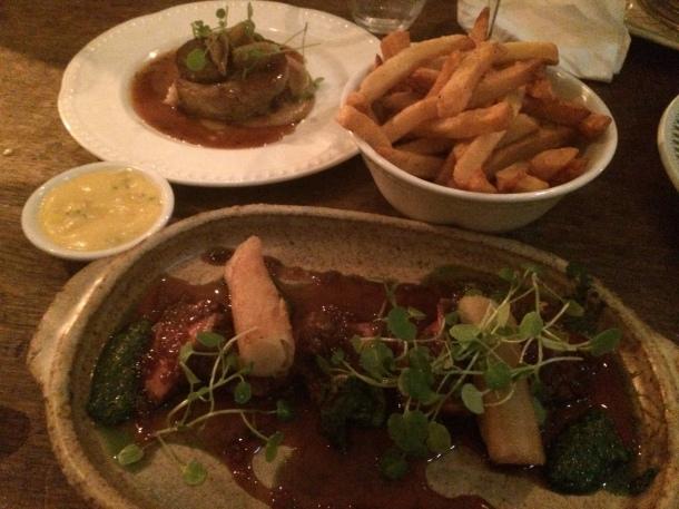 Lamb, beef and frites