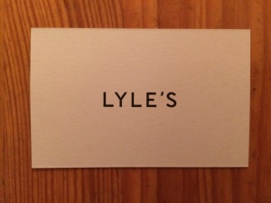 Lyle's business card