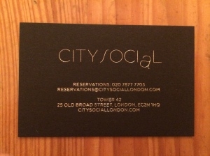 City Social business card