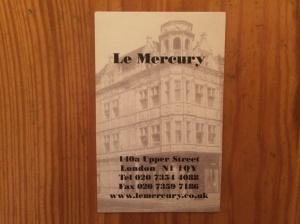Mercury business card