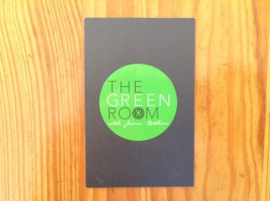 The Green Room business card
