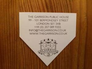 The Garrison business card