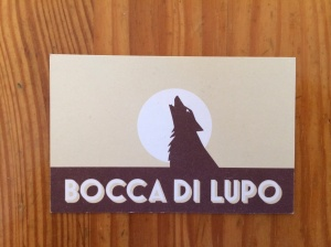 Bocca di Lupo business card