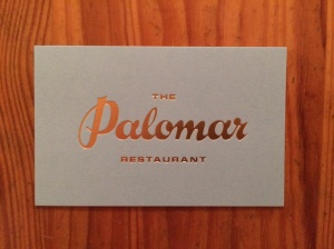 The Palomar business card