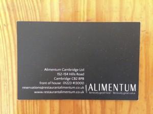 Alimentum business card
