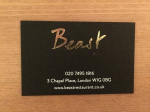Beast business card