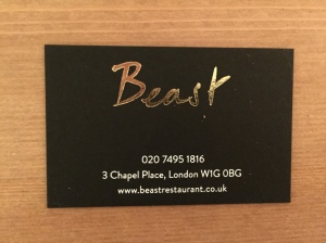 Beast business card