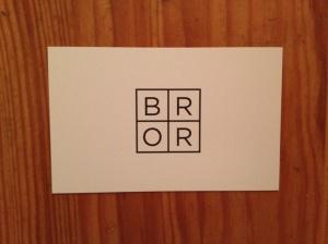 Bror business card