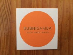 SUSHISAMBA business card