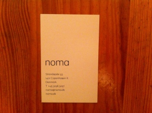 Noma business card
