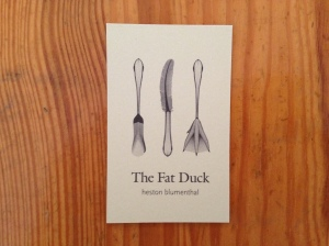 Fat Duck business card