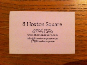 8 Hoxton Square business card
