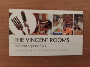 Escoffier Room business card