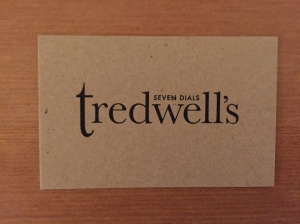 Tredwell's business card