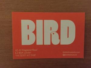 BIRd business card