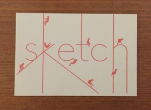 Sketch business card