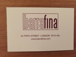Barrafina business card