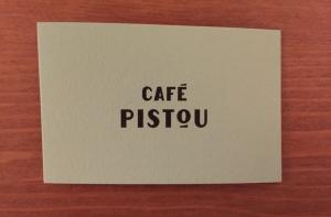 Cafe Pistou business card