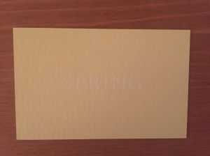 Spring business card