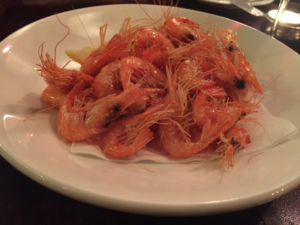 Fried mylor shrimp
