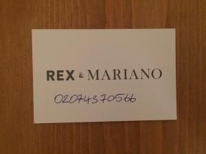 Rex & Mariano business card