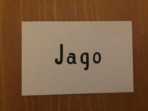 Jago business card