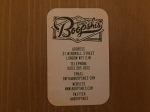 Boopshi's business card
