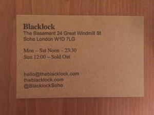 Blacklock business card
