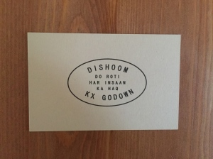 Dishoom business card