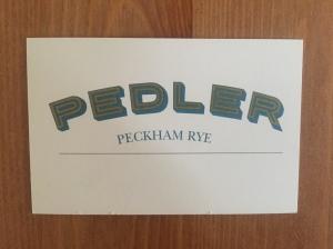 Pedler business card