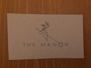 The Manor business card