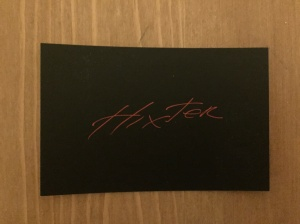 Hixter Bankside business card