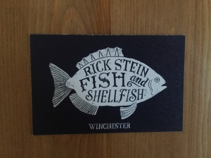 Rick Stein's business card