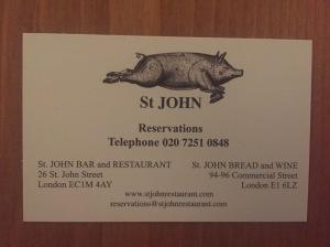 St John business card