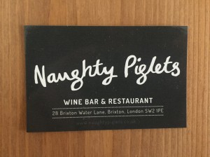 Naughty Piglets business card