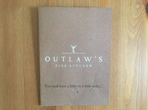 Outlaw's Fish Kitchen business card