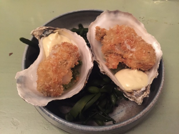 Crispy oysters