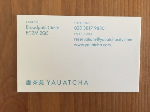 Yauatcha City business card