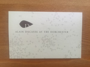 Alain Ducasse business card