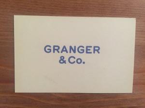 Granger & Co. business card