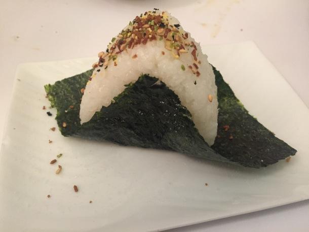 Grilled salmon onigiri