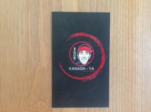 Kanada-Ya business card
