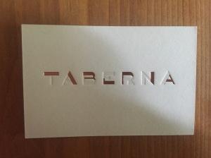 Taverna business card
