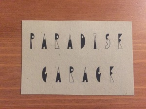 Paradise Garage business card