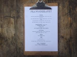 Prawnography menu