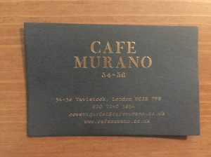Cafe Murano business card