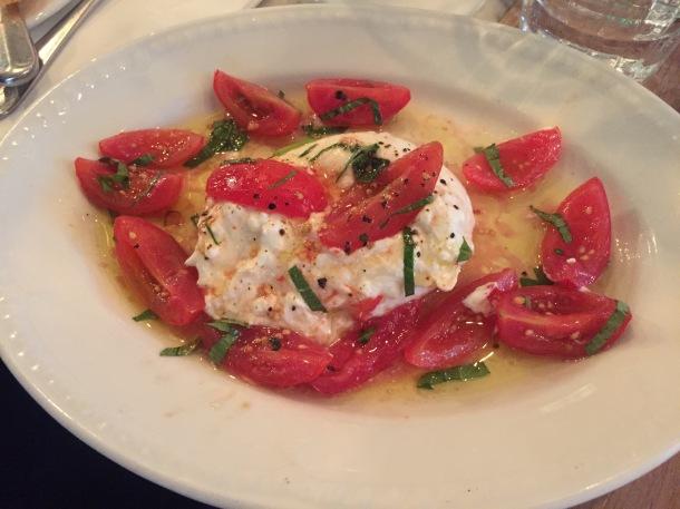 Burrata and tomatoes